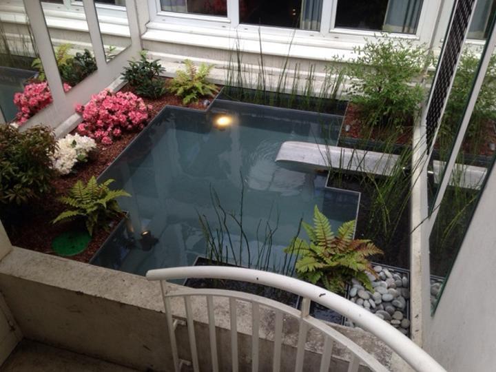 Bambous conception et am nagement de jardins jardins - Bassin japonais ...