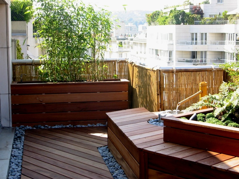 Terrasse japonaise zen for Deco appartement zen
